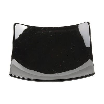 Porzellanteller 'Schwarze Serie' gewölbt