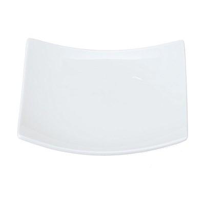 Porzellanteller quadratisch 'Weiße Serie'