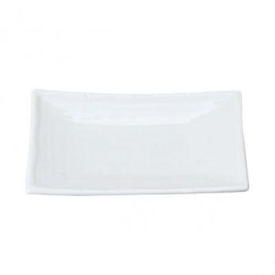 Porzellanteller rechteckig III 'Weiße Serie'