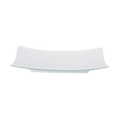 Porzellanteller rechteckig I 'Weiße Serie'