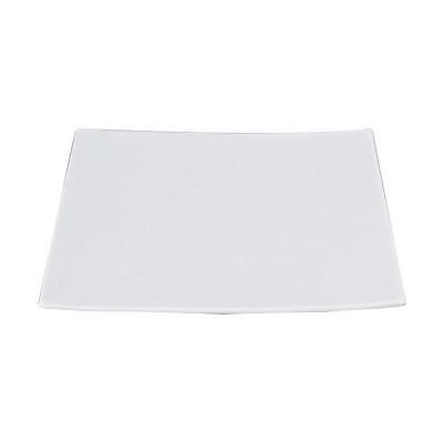 Porzellanplatte quadratisch groß 'Weiße Serie'