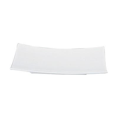 Porzellanteller rechteckig klein 'Weiße Serie'