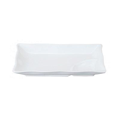 Porzellanteller rechteckig IV 'Weiße Serie'