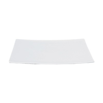 Porzellanplatte rechteckig mittel 'Weiße Serie'