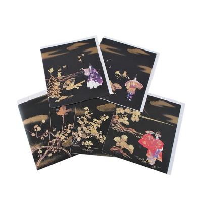 Postkarten - Schwarz-Gold
