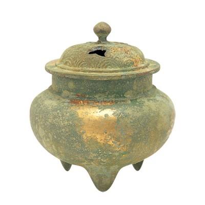 Räuchergefäß aus Kupfer mit Gold