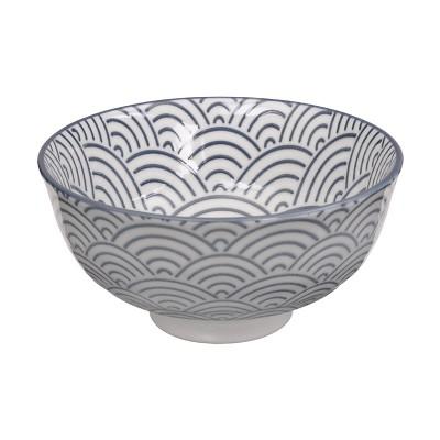 Reisschale - Japan Grau - Seigaiha 12cm