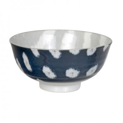 Reisschale 'Kasuri - dunkelblau/grau' 11,2cm