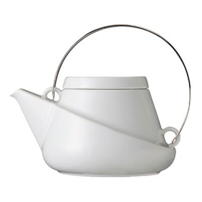 RIDGE Teekanne mit Abseiher und Henkel aus rostfreiem Stahl