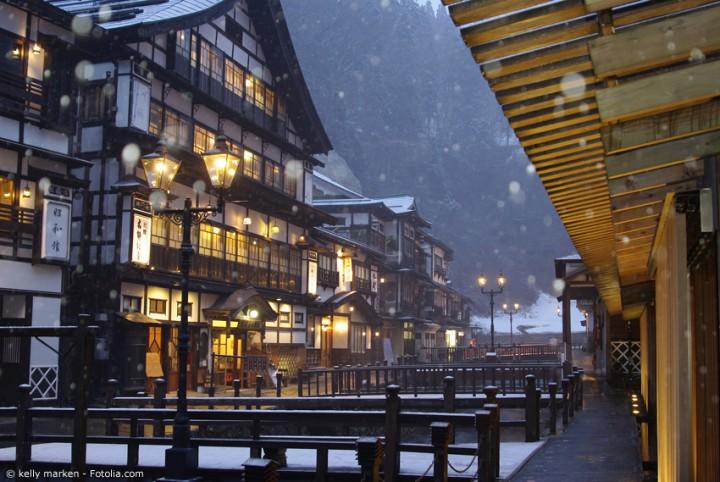 Speisen und Übernachten in einem traditionellen Ryokan Hotel