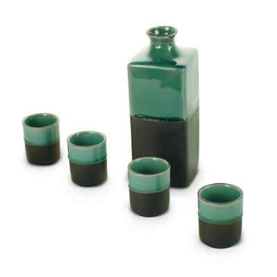 Sake-Set - Eisgrün