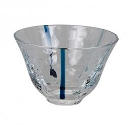 Sakebecher Glas Blau 90ml