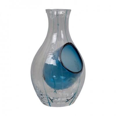 Sakeflasche Glas Blau 300ml