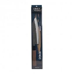 Santoku Messer aus Edelstahl 16,5cm Klinge, Stil gehämmert