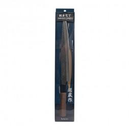 Sashimi Messer aus Edelstahl Klinge 24cm, Stil gehämmert