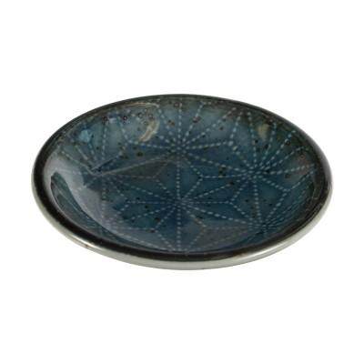 Saucenschälchen - Asanoha rund blau