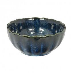 Schälchen 'Kobaltblau' 9x4,1cm mit gewelltem Rand