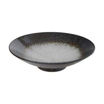 Schale flach 'Shirosumi' schwarz/weiß 28cm