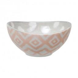 Schale 'Kasuri - rosa/grau'