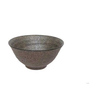 Schüssel 'Seigaiha Aisumicha' braun 20cm