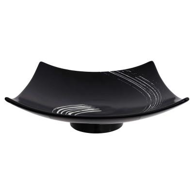 Servierplatte mit Fuß 'Black Maru'