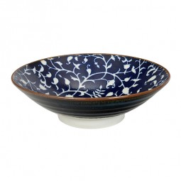 Servierschale 'Burashi ao - Karahana blau' 24,5x7,5cm