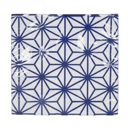 Servietten 'Japan blau - Asanoha' 33x33cm - 20er Packung