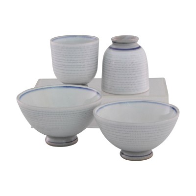 Set Tochiri - 2 Reisschalen und 2 Teeschalen