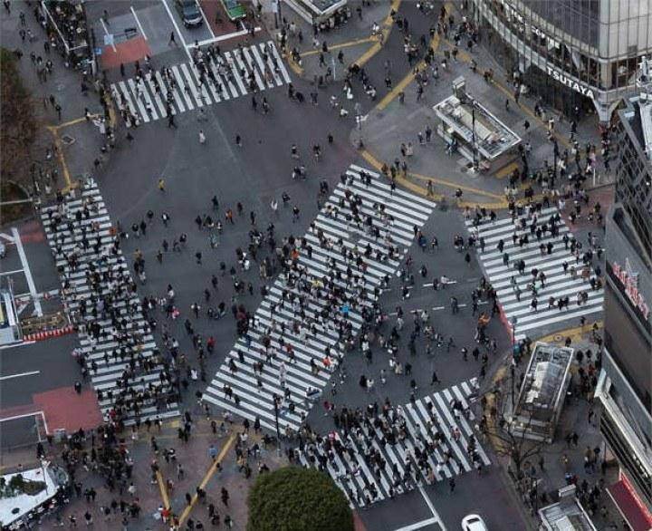 Shibuya Crossing – ein Wahrzeichen der Weltstadt Tokyo