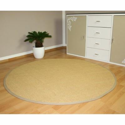 Sisalteppich mit Bordüre - Rund