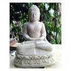Sitzender Buddha auf Sockel
