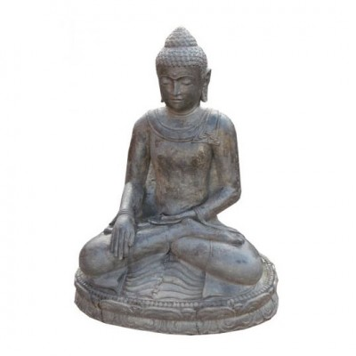 Sitzender Buddha, Lavaguß