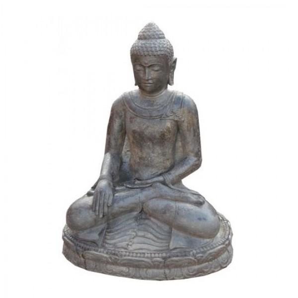 sitzender buddha lavagu figuren skulpturen garten japanwelt. Black Bedroom Furniture Sets. Home Design Ideas