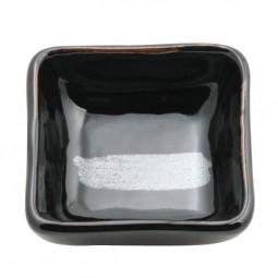 Sojasaucenschale 'Schwarz Silber'