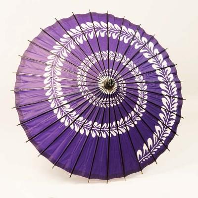 Sonderposten Sonnenschirm Blätterranke lila