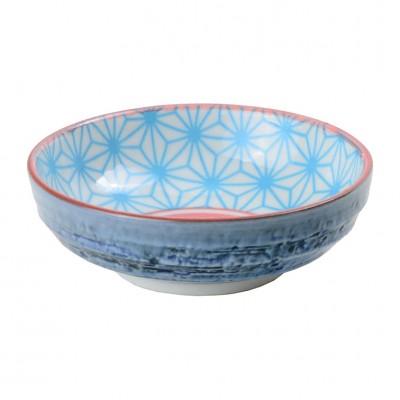Soßenschale 'Asanoha Seigaiha – Hellblau/Dunkelblau'
