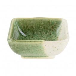 Soßenschale 'Choku Oribe Grau/Grün'