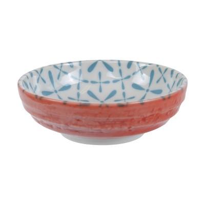 Soßenschale 'Nanairo - Kamezashi blau/rot' 9,5cm