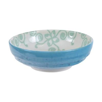 Soßenschale 'Nanairo - Karakusa grün/blau' 9,5cm