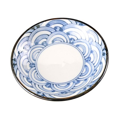 Soßenteller 'Seiji Nami Weiß-Blau'