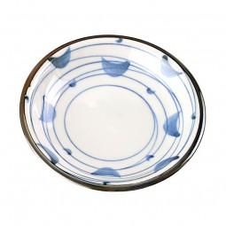 Soßenteller 'Seiji Rasen Weiß-Blau'