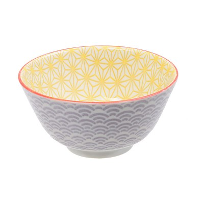 Speiseschale 'Asanoha Seigaiha – Gelb/Lila'