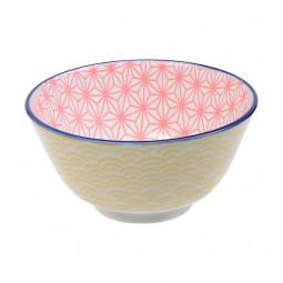 Speiseschale 'Asanoha Seigaiha – Pink/Gelb'