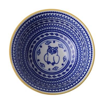 Speiseschale 'Bunte Tiere – Eule blau' 15,5x7cm