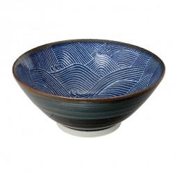 Speiseschale 'Burashi ao - Nami' 17,5x7,5cm