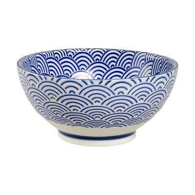 Speiseschale 'Japan Blau – Seigaiha' gerader Rand