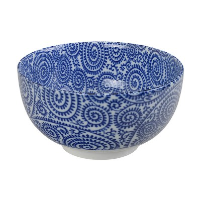 Speiseschale 'Karakusa Shida – Blau' 16x8,5cm