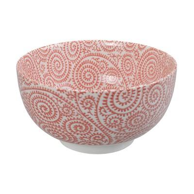 Speiseschale 'Karakusa Shida – Rot' 16x8,5cm