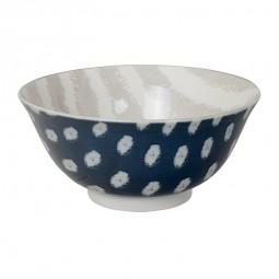 Speiseschale 'Kasuri - dunkelblau/grau' 15cm