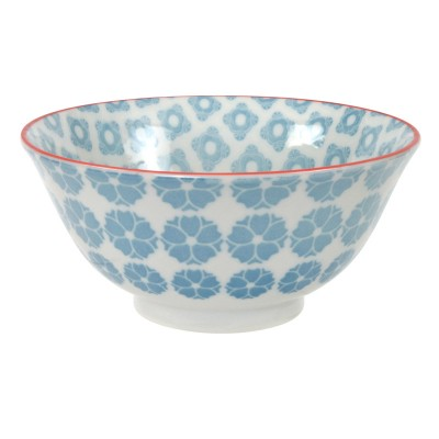 Speiseschale 'Nanairo - Hakkakushokko blau' 15x7cm